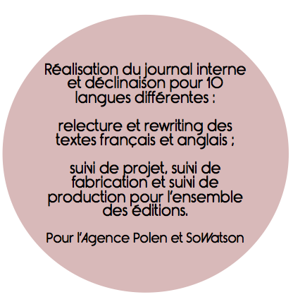 Réalisation journal interne, communication interne, conception rédaction, relecture